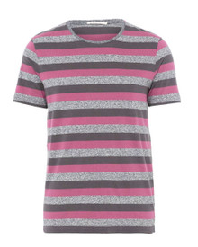 Mik Stripes T - Plum / Grey