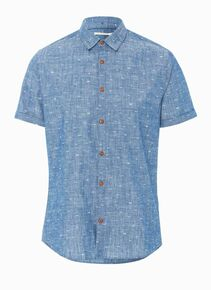 Kenji Waves S / Sleeved Shirt - Blue