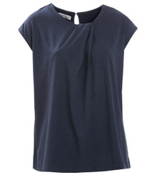 Ri Sleeveless Top - Navy