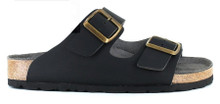 Two Strap Sandal - Black