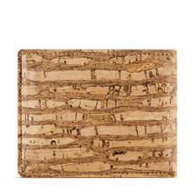 Cork wallet with coin pocket - Zebra