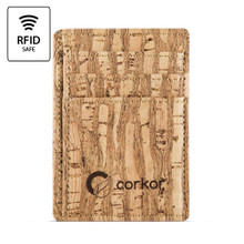 Standard Cork Card Holder - Zebra