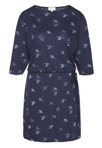 Lumi Crane Dress - Navy
