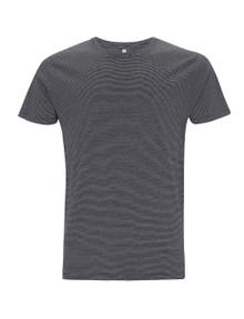 Organic T-shirt - Pinstripe Black