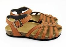 Etrusca Flat Sandal - Natural Tan