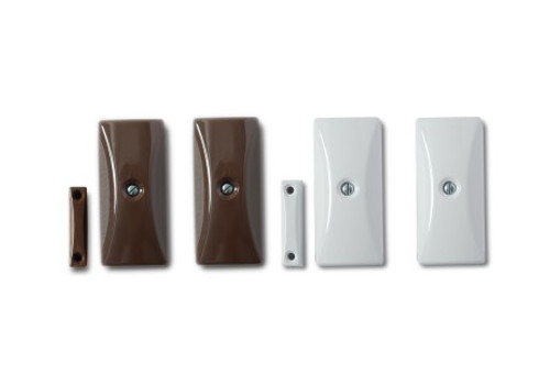 Standard Shock Sensor with integrated Magnetic Contact, available in White and Brown