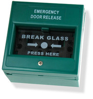 Green Break Glass Unit