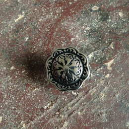 "Jul Pedestal Button Floral(1"")/BT34-S"