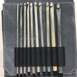 Lykke Driftwood Crochet Hook Set, Grey Case
