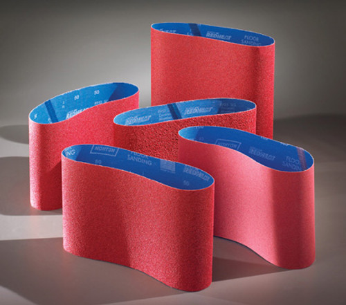 "11 7/8"" X 31 1/2"" Norton Red Heat Belts (Box of 5 Belts)"