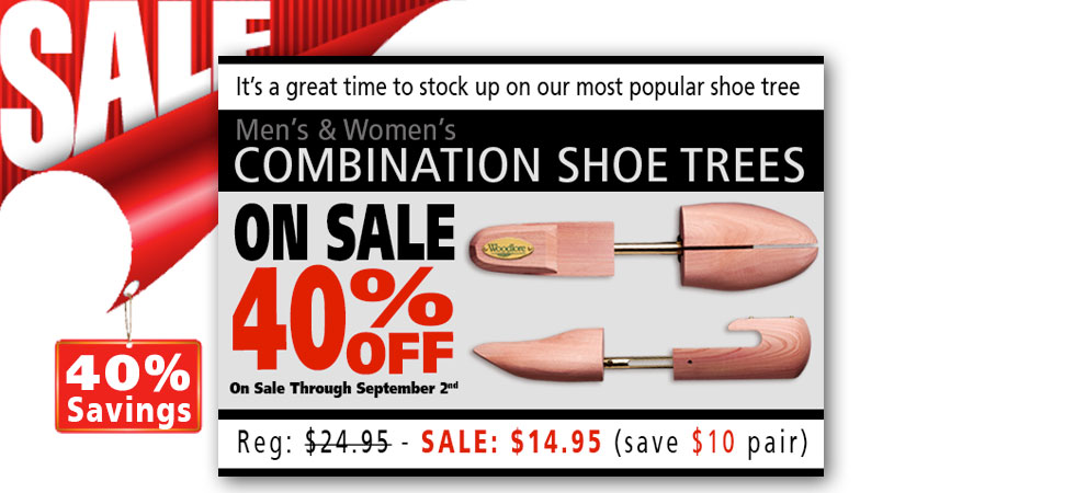 Combination Shoe Trees - On Sale - 40% Off