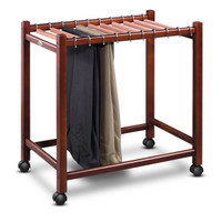 Compact Pant Trolley with Aromatic Cedar Pant Rods. Comfortably holds 10 pairs of pants. By Woodlore.