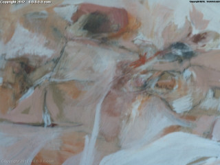 """Calvin Grigg - Original - """"Shadows Marching Round And Round The Rose"""" -gouache- 30inx36in"""