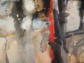 "Calvin Grigg - Original - ""Seated Figures"" - guoache, magic marker - 21inx13in"