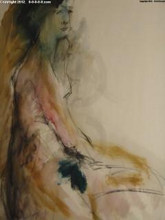 "Calvin Grigg - Original - ""Lisa"" - Watercolor - 30inx40in"