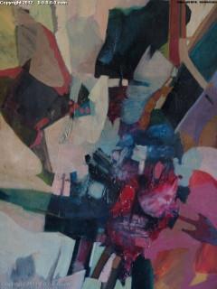 "Grigg - Original - ""Intrusion"" - Oil on Canvas- 34inx51in"