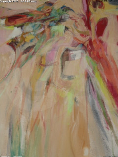 """Grigg - Original - """"Truby's Dance"""" - Oil/Acrylic on Canvas- 46inx47in"""