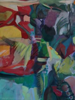"""Grigg - Original - """"Flora"""" - Oil/Acrylic on Canvas- 48inx53in"""