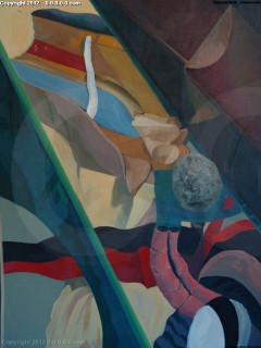 """Grigg - Original - """"The Magician"""" - Oil on Canvas- 52inx52in"""