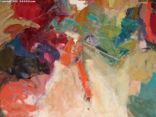"Calvin Grigg - Original - ""Colourful"" - Oil/Acrylic on Canvas- 34inx34in"
