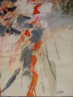 "Calvin Grigg - Original - ""Untitled"" - gouache - 13inx21in"