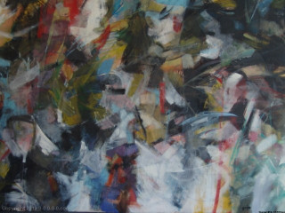 "Calvin Grigg - Original -  ""Flight"" - Oil  on Canvas- 5ftx8ft"