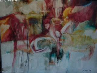 "Calvin Grigg - Original - ""Dreams"" - Oil on wood- 49inx46in"