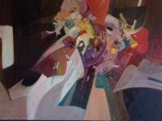 """Calvin Grigg - Original - """"Trebor"""" - Oil/acrylic on Canvas- 46inx53in"""