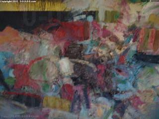 "Calvin Grigg - Original - ""Bandwidth"" - Oil on Canvas- 45inx47in"