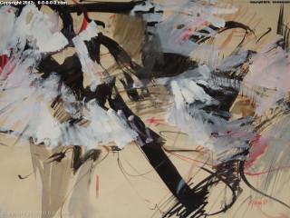 "Calvin Grigg - Original - ""Reclining Figure"" - mixed media - 24inx32in"