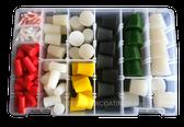 MIT Masking Supplies - 186 piece High Temp Silicone Plug Kit MIT-PK-186