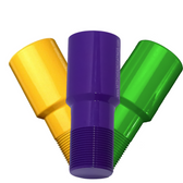 MIT Powder Coatings - Mardi Gras Bundle - Safety Yellow PESY-400-G9, Purple Wave PESP-400-G9, and Bright Green PESGR-400-G9