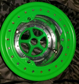 MIT Powder Coatings - Neon Green PESGR-670-SG6 - Photo Submitted by Taylors Powder Coating