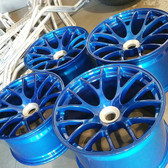 MIT Powder Coatings - Candy Blue PESBL-681-G9 - Photo Submitted by Sharp Customs