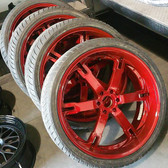 MIT Powder Coatings - Candy Red PESR-680-SG6 - Photo Submitted by Sharp Customs