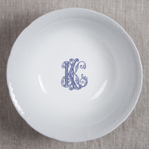 """Behr Knipfer WEAVE 10.25"""" MONOGRAMMED LG SERVING BOWL 4 colors & 3 fonts available"""