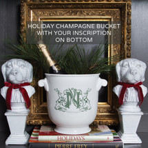 Holiday Porcelain Champagne Bucket-Limited Edition