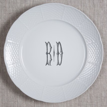"MANKEY-THOMPSON WEDDING WEAVE MONOGRAMMED 10.25"" DINNER"