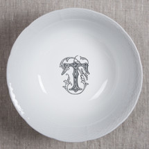 MANKEY-THOMPSON WEDDING MONOGRAMMED WEAVE LARGE SERVING BOWL