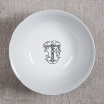 MANKEY-THOMPSON WEDDING MONOGRAMMED WEAVE MEDIUM SERVING BOWL