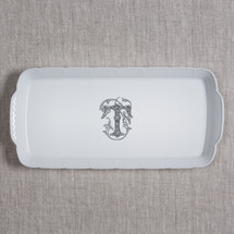 MANKEY-THOMPSON WEDDING MONOGRAMMED WEAVE RECTANGLE PLATTER
