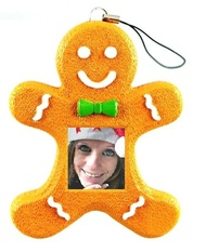 1.5 Inch Display Gingerbread Man Digital Photo Ornament
