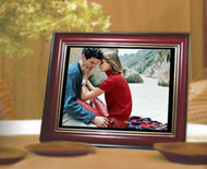 "ZOpid 10.4"" Display Digital Photo Frame - Antique look Wooden Outer Frame"