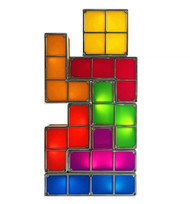 Rechargeable Tetris Retro Game Style Stackable Multi-color LED Lamp