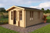 The Alexandra 44mm Log Cabin from Lasita Maja is fitted with 44mm Logs.