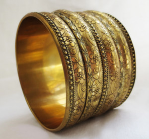 Wide Brass Bangle