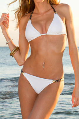 Captain String Bikini - White