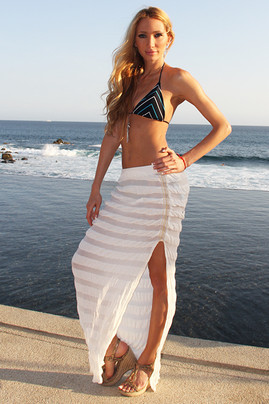 Lisa Maxi Skirt- White