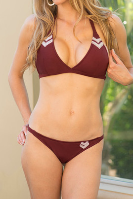 Military Bikini - Burgundy