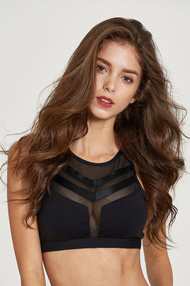 Dramatic Sports Bra- Black